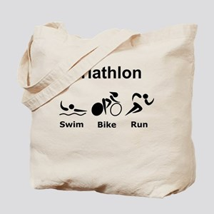 Triathlon Swim Bike Run Tote Bag