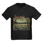 typewriter writer Kids Dark T-Shirt