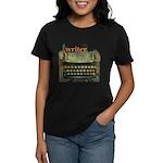 typewriter writer Women's Dark T-Shirt