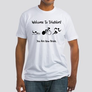 Welcome To Triathlon! Fitted T-Shirt