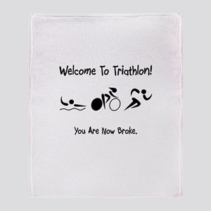 Welcome To Triathlon! Throw Blanket