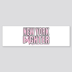 New York Breast Cancer Fighter Sticker (Bumper)