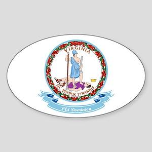 Virginia Seal Sticker (Oval)