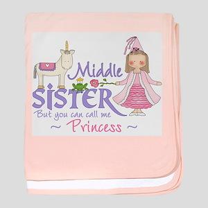Unicorn Princess Middle Siste baby blanket