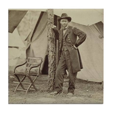Ulysses S. Grant Tile Coaster