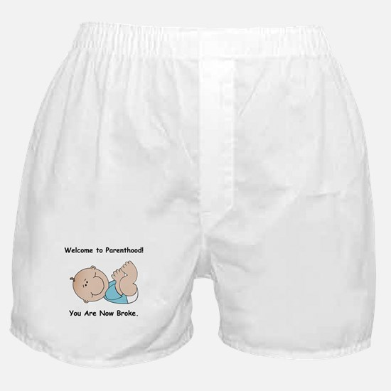 Welcome To Parenthood! STYLE A Boxer Shorts
