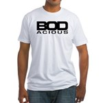 BODacious Logo: White Fitted T-Shirt