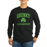 Drunky Long Sleeve Dark T-Shirt