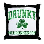 Drunky Throw Pillow