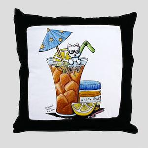 West Highland Iced Tea Throw Pillow