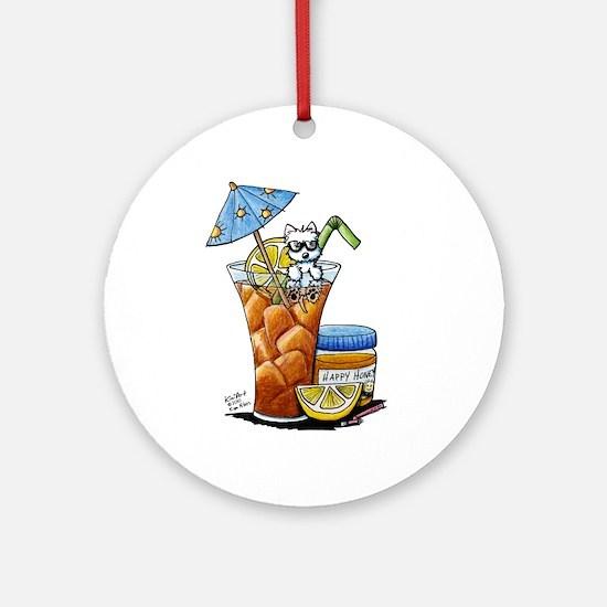 West Highland Iced Tea Ornament (Round)