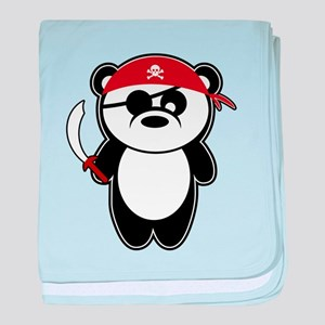 Pirate Panda baby blanket