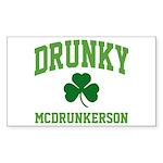 Drunky Sticker (Rectangle 50 pk)