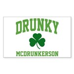 Drunky Sticker (Rectangle 10 pk)