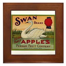 Swan Apples Framed Tile