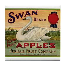 Swan Apples Tile Coaster
