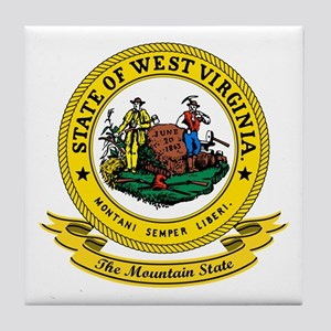 West Virginia Seal Tile Coaster