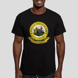 West Virginia Seal Men's Fitted T-Shirt (dark)