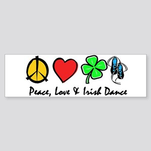 Peace Love Irish Dance Sticker (Bumper)