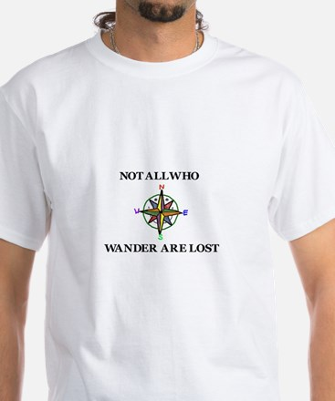 All Who Wander White T-Shirt