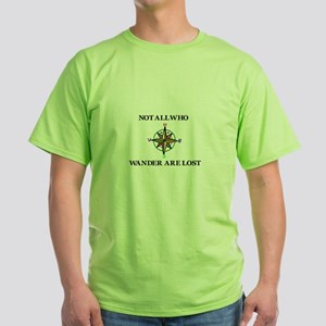 All Who Wander Green T-Shirt