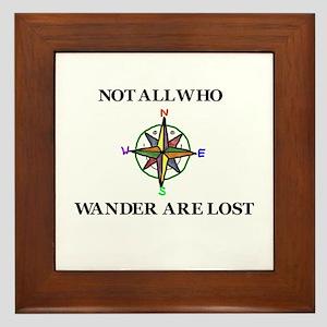 All Who Wander Framed Tile