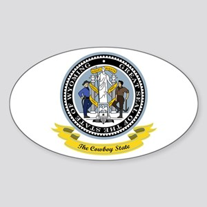 Wyoming Seal Sticker (Oval)