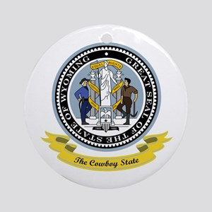 Wyoming Seal Ornament (Round)
