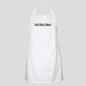 Old Gals Rule! BBQ Apron
