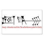 Ama-gi - Liberty Sticker (Rectangle)