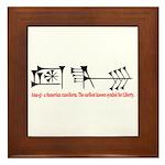 Ama-gi - Liberty Framed Tile