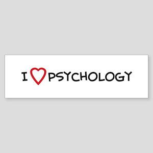 I Love Psychology Bumper Sticker