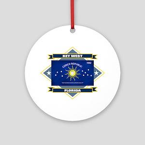 Key West Flag Ornament (Round)
