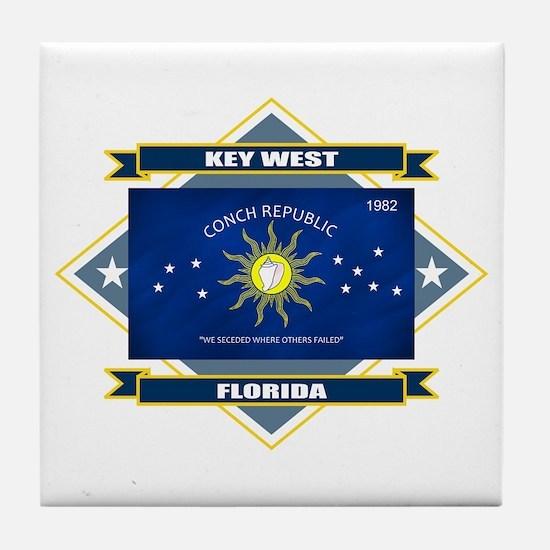 Key West Flag Tile Coaster
