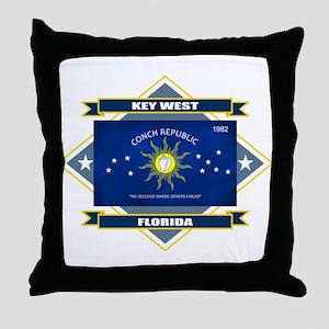 Key West Flag Throw Pillow