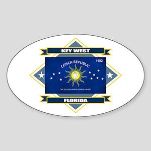 Key West Flag Sticker (Oval)