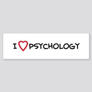 I Love Psychology Bumper Sticker