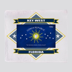 Key West Flag Throw Blanket
