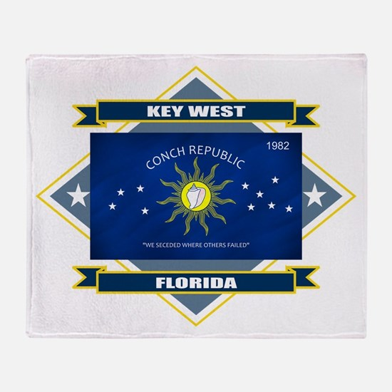 Key West Flag Throw Blanket