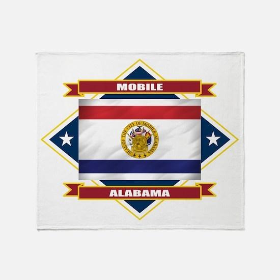 Mobile Flag Throw Blanket