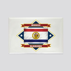 Mobile Flag Rectangle Magnet