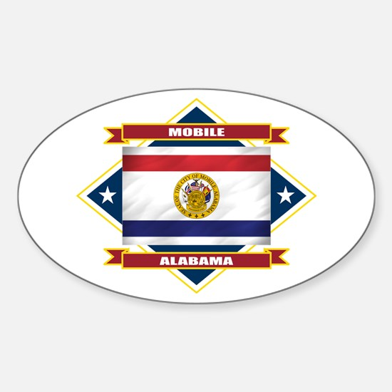 Mobile Flag Sticker (Oval)