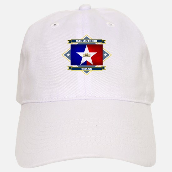 San Antonio Flag Baseball Baseball Cap