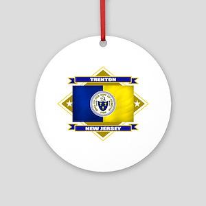 Trenton Flag Ornament (Round)