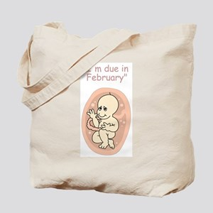 Baby due in February Tote Bag