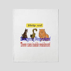 Emergency Stickers Throw Blanket
