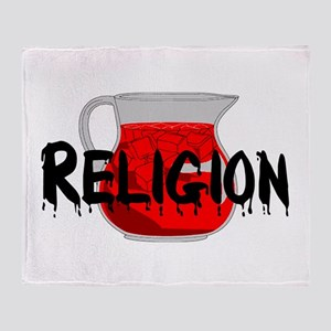 Religion Brainwashing Drink Throw Blanket