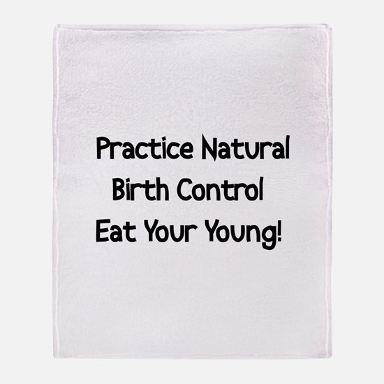 Natural Birth Control Throw Blanket