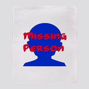 Missing Person Throw Blanket