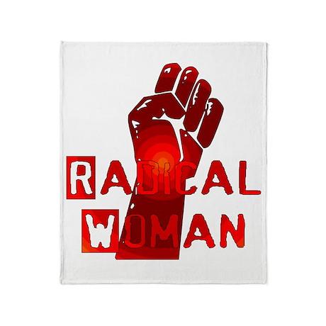 Radical Woman Throw Blanket